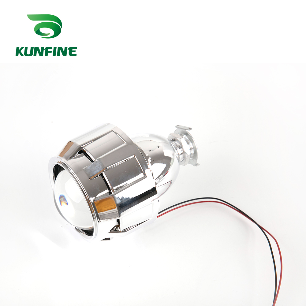 KUNFINE 2PCSlot 2.5 inch Bi-Xenon HID Projector Lens With high low beam for car headlight H1 halogen or xenon bulb (1)