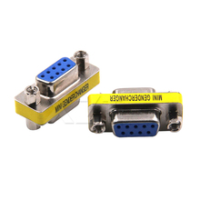 High Quality 50pcs/lot Newest DB9 serial port adapter connector conversion head VGA 9 hole on the connector RS232(China)