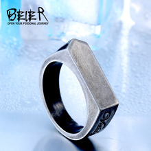 BEIER drop shipping 2017 New Design Retro style stainless steel Unique Ring for man Antique Jewelry BR8-437(China)