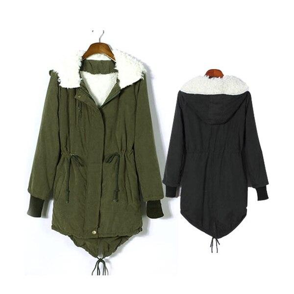 S-XXL Top Fashion 2017 Winter Women Female Warm Long Sleeve Thicken Fleece Hooded Parka Zipper Overcoat Coat JacketÎäåæäà è àêñåññóàðû<br><br>