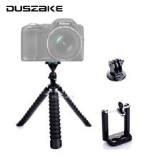 "Flexible Mini Mobile Tripod Stand Octopus Gorillapod 11"" Tripod 2-in-1 for iPhone GoPro hero 5 Canon Nikon Sony SJCAM Tripod"