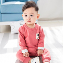 2017 Kid Clothes Baby Boys Autumn Coats Jackets Pants Set Newborn Mustache Logo Pullover Shirts Trousers  Sports Suit HR123