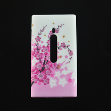 Butterfly Flower Silicone Gel TPU Cover Case For copue Nokia Lumia 800 N800 Phone Case Bag Fundas
