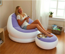 Fashion PVC Folding Portable Inflatable Sofa Self Bean Bag Chair Portable Outdoor Garden Sofa Living Room Furniture Corner Sofa(China)