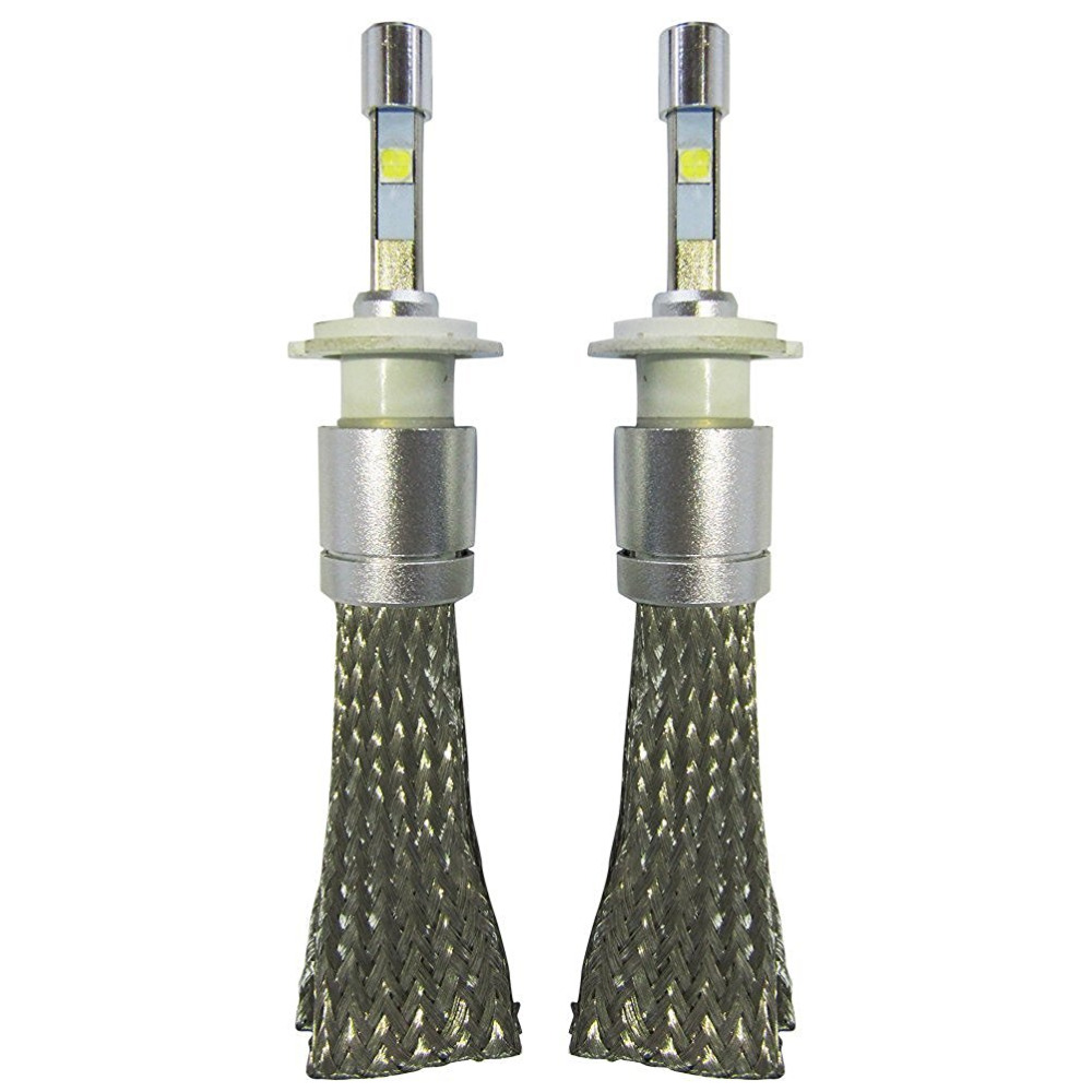 Super Bright R3 9600lm LED Car Headlights H7 White 6000K Car LED Headlight Conversion Lamp Kit For Cre XHP-50 4800lm Bulb<br>