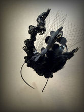 Unique Black Feather Headband Hair Alice Band Gift Wedding Party Prom Vintage Goth Style