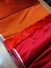 chinese silk brocade  fabric Suits Custom no pattern Pure  Flat  No flowers  pure color  color orange red Tapestry satin