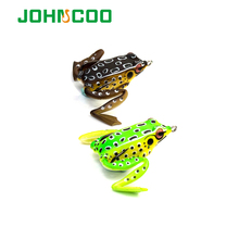 JOHNCOO Quality Kopper Artificial Bait Fishing Lure Soft Frog Lure 50mm 11g Frog Soft Plastic Snakehead Lure Simulation Frog