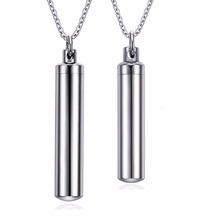 popular couple family travel perfume bottle necklace never fade pendant men husband jewelry 1121