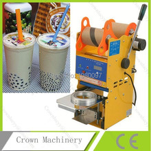 Full stainless steel semi automatic plastic cup sealer machine