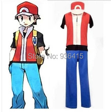 Free shipping Pokemon costume Ash Katchum Pocket Monster cosplay fantasy halloween costumes for men party/ chrismas