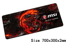 MSI mouse pads 70x30cm pad to mouse notbook computer mousepad best seller gaming mousepad gamer to keyboard laptop mouse mat(China)