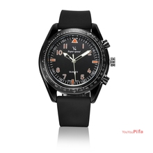 Newest Casual Simple Watch Men&Women Quartz Watch Live Sports Anologe Rubber Band Dresswatch(NBW0QU8081-OR3)(China)