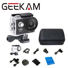 GEEKAM A9 720P HD Action camera With a bag 1080P 15fps sport cam deportivas Video camera 30M waterproof camera Mini camcorder