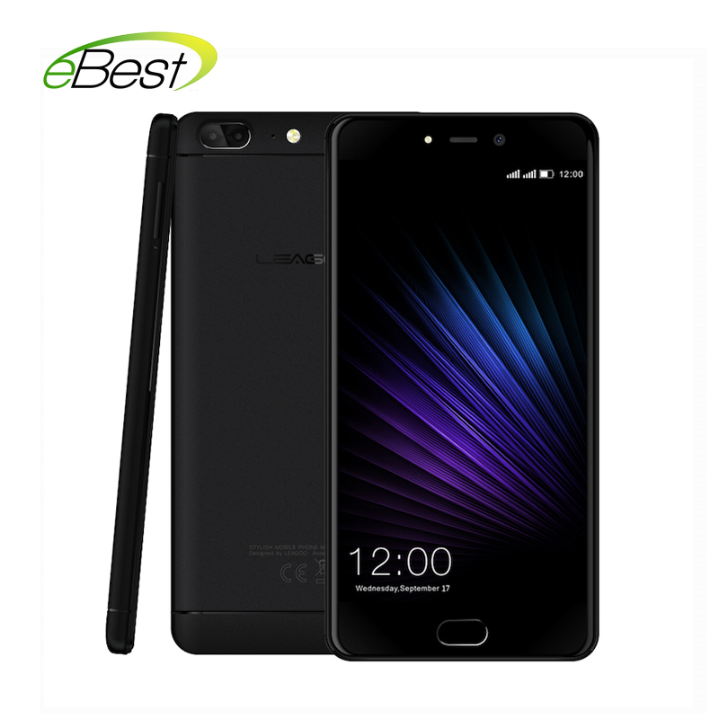 "Original Leagoo T5 smartphone Dual Back camera 13M MTK6750T Octa core 5.5"" FHD 4G+64G Android 7.0 Front Fingerprint mobile phone(China)"