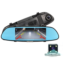 "7.0"" IPS Car DVR Rearview Mirror Camera Dual Lens FHD 1080P With Night Vision Rear View Camera Dash Cam Parking Monitor"