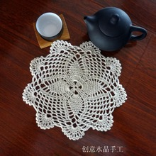 2016 new arrival cotton crochet doilies for luxury 6 pic/lot innovative item for home decor with flower tableware as props mats