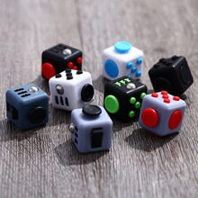 110pcs/lot 1.3 Inch Fidget Cube 3.3*3.3cm Anxiolytic Magic Cube Stress Relief Toys Fun Decompression Toy 13 Color Children Gift(China)
