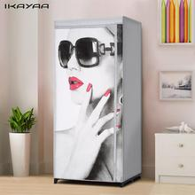 iKayaa Folding Cloth Wardrobe Fabric Closet Wardrobe Garment Clothing Storage Organizer Clothes Rack with Shelves US Stock(China)