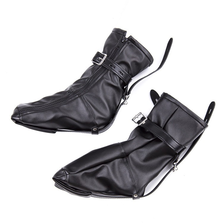 Kinky BDSM Bondage Soft PU Leather Padded Boot Booties Feet Restraint Socks Female Foot Fetish Sex Toys,Ankle Cuffs Sex Products