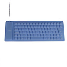 Reliable Flexible USB 2.0 keyboard USB roll-up Flexible Silicone Keyboard For PC Laptop(China)