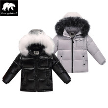 2017 winter down jacket parka for girls boys coats , 90% down jackets children's clothing for snow wear kids outerwear & coats(China)