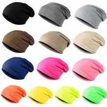2017 New Spring Autumn Female Girls Boys Knitted Beanie Solid Color Hip-hop Slouch Hat Skullies Casual Unisex Cap gorras(China)