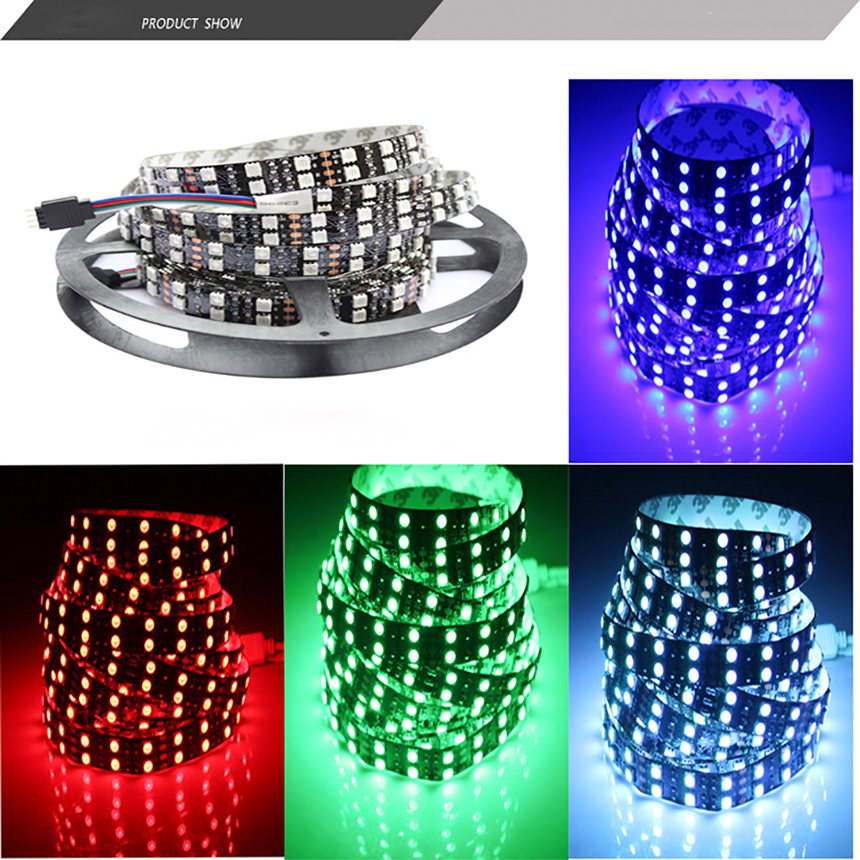 5M LED Strip Light 12V 600Leds SMD 5050 Diode Tape RGB &amp; Single Colors High Quality Ribbon Flexible Lights for Wedding Patry<br>