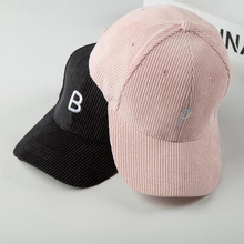 Metting Joura New Men Women Corduroy Baseball Cap Bones Letter Snapback HipHop Flat Hat Male Female Casquette Solid Color
