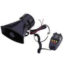 LARATH Hot sale 1 set 5 Sound Loud Car Truck Speaker Warning Alarm Police Fire Siren Horn 12V 100W 105db With MIC Microphone(China)