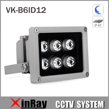 Auxiliary Infrared Light 6 Strong LED Night Vision Range 80M Aluminium Illuminator lamp for Security CCTV IP Camera