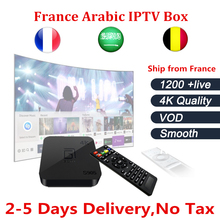 Android TV Box S905+French iptv Box with 1 Year NEO TV+ Arabic France Belgium IPTV BOX VOD include smart tv box ship from France(China)