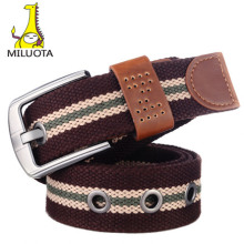 [MILUOTA] Canvas pin buckle belt unisex military belt Army tactical fashion belt mens top quality men strap BT003