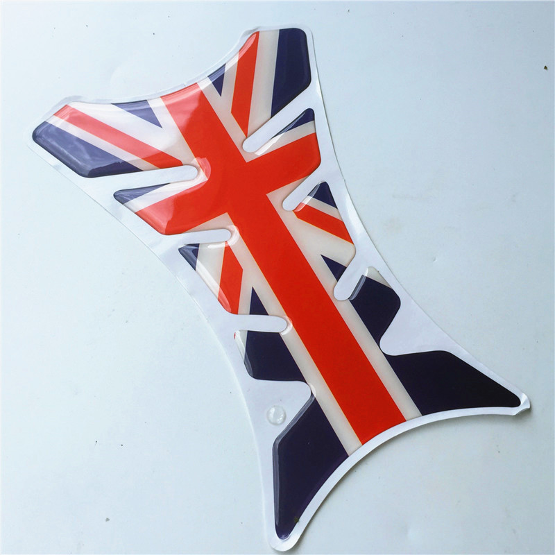 19cm 3D Motorcycle Decal Gas Oil Fuel Tank Pad Protector Car Sticker Dragon the Union Flag Cross For Harley BMW KTM Moto Honda(China (Mainland))