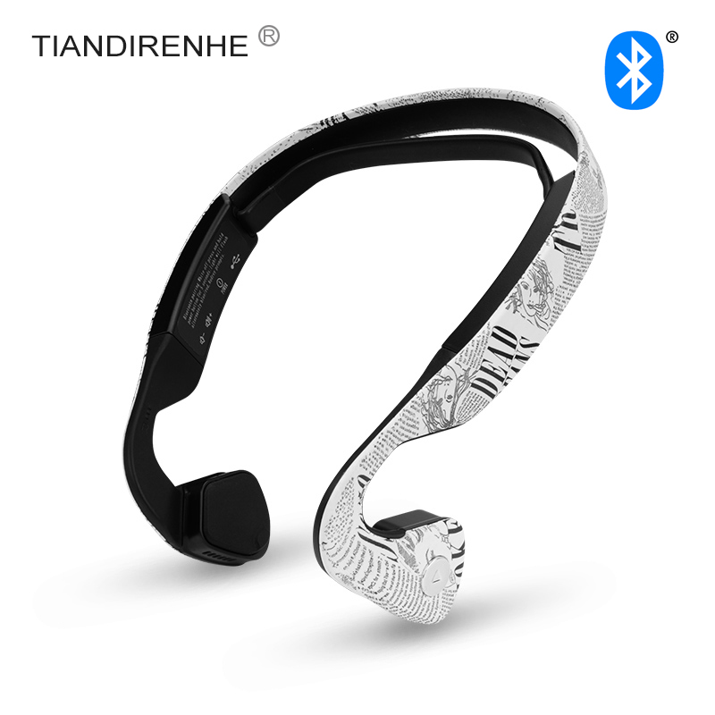 2017 Newest Bone Conduction Bluetooth 4.0 Wireless Headphone Sports Headset Stereo Bass Earphone with Microphone USB Hot Sale<br>