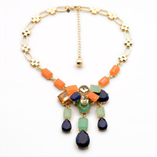 Fashion Cute Resplendent Brighr-Colored Colar Pendant Nacklace(China)