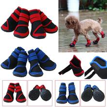 4 PCS Waterproof Pet Rain Boots Protective Shoes All Weather Huskies Large Dog Booties Socks Pet Dog Anti-slip Shoes XS S M L(China)
