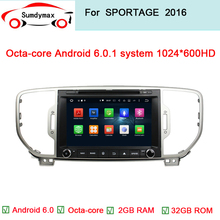 "8""android 6.0 car dvd player for KIA sportage 2015 2016 pure 1024*600 car dvd player gps in dash sorento car dvd navigation(China)"