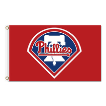 RED BLUE Philadelphia Phillies Flag Baseball World Series Champions Super Fans Team Flags Banner 3x5 Ft Banners 100D Polyester(China)