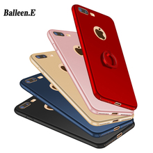 Balleen. E Luxe Ring Hard Matte PC Telefoon Gevallen Voor iPhone 7 6 6 s 5 5 s SE Plus Grip Stand Cover Case Capa Coque Voor iPhone7(China)