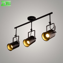 Iron Painted Vintage Spotlights Shop Pendant Lamp Clothing Store Lighting Coffee House/Bookshop/Bar/Hall/Mall Lamp Free Shipping