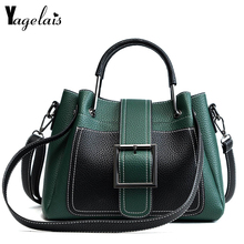 2018 Fashion Women Casual Shoulder Bags Zipper and Hasp Closer Panelled Leather Handbag Casual Crossbody Small Tote Women bolsa(China)