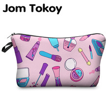 Jom Tokoy 2017 New Fashion 3D Printing Women Travel Makeup Case Fashion Brand Cosmetic Bags(China)