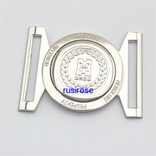 Personality silver enterprise LOGO belt buckle custom, combination belt buckle