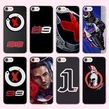 jorge lorenzo lorenzo 99 Logo red X Style transparent clear phone shell case for Apple iPhone 6 6s Plus 7 7Plus SE 5 5s
