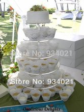Clear Acrylic Cupcake Stand, 6 Tiers Round Crystal Wedding Acrylic Cake Stand party decoration(China)