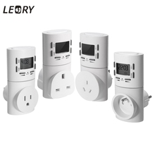 UK/US/EU/AU Plug Electronic Programmable Time Switch Socket 24 Hours AC Digital LCD Timer Domestic Adapter For Air Conditioner