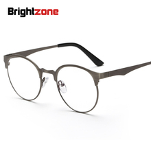 New Anti-Blue Light Glasses Round Metal Plain Anti-tired Spectacles Eye Comfort General Purpose Restore Ancient Ways Glasses