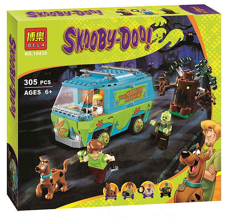 Bela 10430 Scooby Doo Mystery Machine Bus Building Block Mini Toys with lepin 75902 Christmas gift P029<br><br>Aliexpress