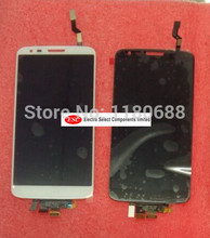 LCD Display + Touch Digitizer Screen glass For LG D802 G2  White and Black  Free shipping